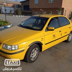 تاکسی فروش,فروش تاکسی سمند EF7 گازسوز 96 ,خرید و فروش تاکسی در تهران